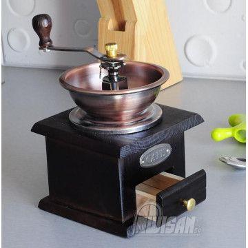 Drewniany Ręczny Młynek do Kawy