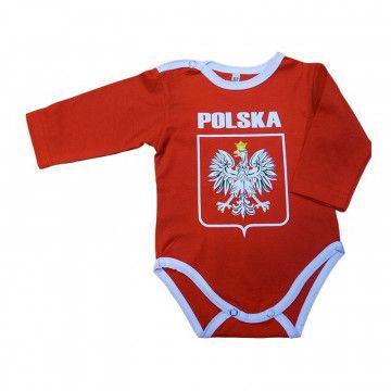Body Dziecięce Polska Duże Godło Czerwone