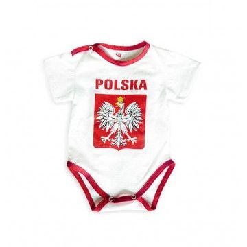 Body Dziecięce Polska Duże Godło Białe