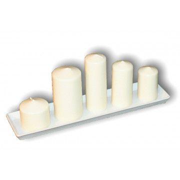 Komplet 5 świec bryłowych