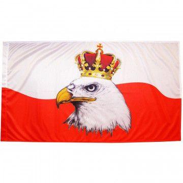FLAGA POLSKI Z ORŁEM W...